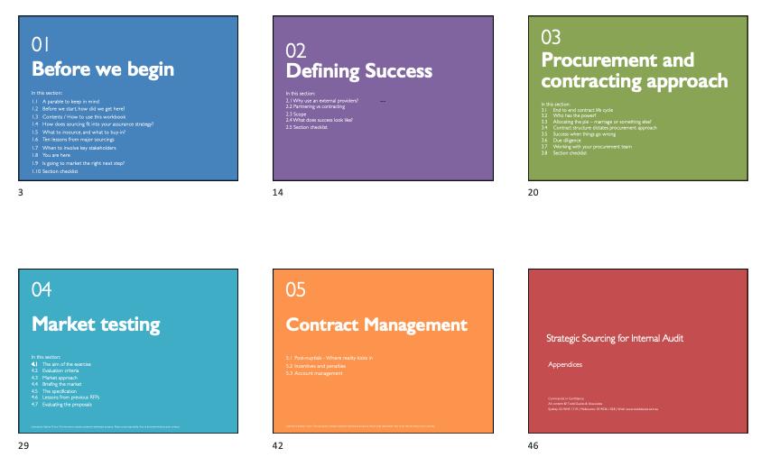 Strategic sourcing workbook